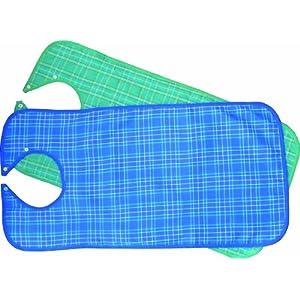 Lätzchen für Erwachsene Ess-Schürze, waschbar, Farben blau, grün