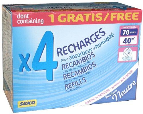 Seko R3+1 Neutre Lot de 4 Recharges Gaine de 1 kg Neutre Stop 40 m2