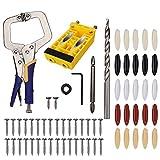 AuHandle Kit de localisateur de trou oblique pour poinçon à bois Outil de positionnement de perceuse électrique, gabarit de trou de poche