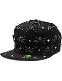 LOCOMO Men Women Black Spider Baseball Cap FFH315s01