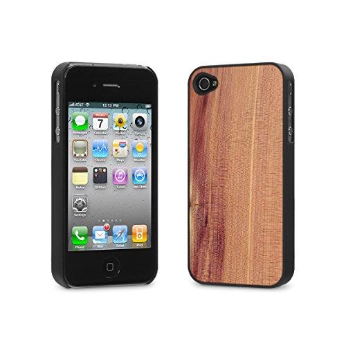 Cover-Up #WoodBack Hülle aus echtem Holz für iPhone 4 / 4s - Zedernholz (Iphone 4s Rücken)
