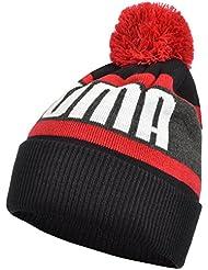 Bonnet Word Beanie Black Red Jr - Puma
