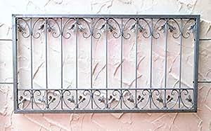 fenstergitter schmiedeeisen ziergitter einbruchschutz monaco z80 150 verzinkt baumarkt. Black Bedroom Furniture Sets. Home Design Ideas