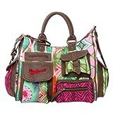 DESIGUAL 41X5357 Bols London Medium Ishburi, Damen Handtasche, Henkeltasche, maleza braun mehrfarbig