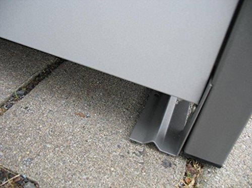 Mülltonnenbox Quadra aus Metall 3x 240 Liter - 2