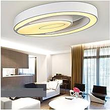 Homelavafans Modern Acryl LED Deckenleuchte Oval Weiss Flur Wohnzimmer Lampe Schlafzimmer Kche