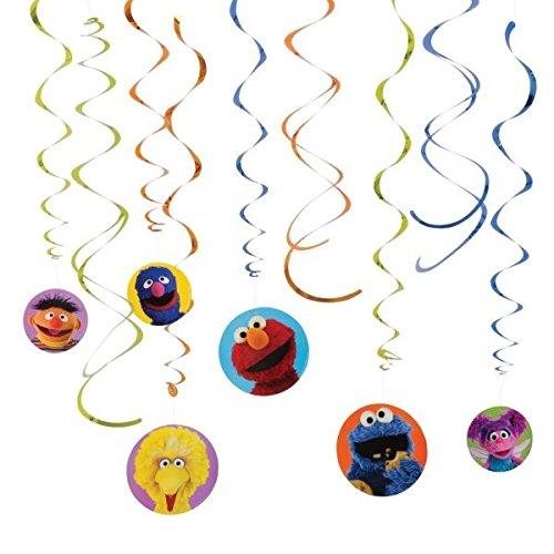 Amscan Sesame Street Swirl Dekorationen, multicolor