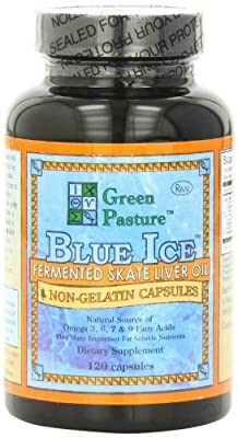 Green Pasture Blue Ice Fermented Skate Liver Oil - 120 Capsules