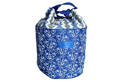 Borsa mare Gian Marco Venturi sacco a spalla l.Ikat 15113 blu moda mare