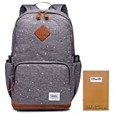 KAUKKO Backpack Outdoor Rucksack Hiking Travel Schoolbag Daypack Backpacks Grey
