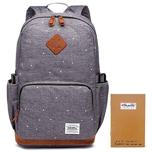 k Studenten Backpack Laptop College Schulrucksack Reiseeucksack, (05) Grau, Large ()