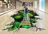 Weaeo Kreative 3D-Bodenbeläge Bild 3 D Stock Wandbilder Tapeten Für Zimmer Fantasy Forest Road Foto Tapeten Pvc Selbstklebend Wasserdicht 120 X 100 Cm