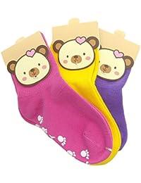 TUKA Calcetines Antideslizantes Unisex para bebés 1 a 3 años, ABS Calcetines para niños niñas,…