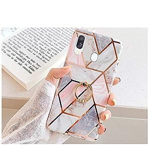 Kompatibel mit Samsung Galaxy A40 Hülle,Handyhülle Galaxy A40 Case Rosa Marmor Muster Ultradünn TPU Silikon Hülle…