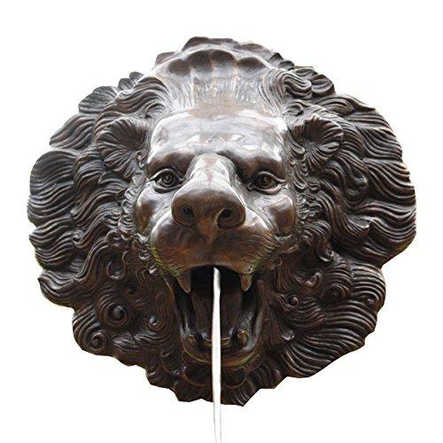 Antike Fundgrube Löwenkopf Bronze Wasserspeier LÖWE Kopf Figur Skulptur (787)