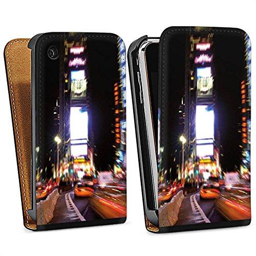 Apple iPhone 6 Housse Étui Silicone Coque Protection Times Square Broadway New York City Sac Downflip noir
