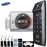 SAMSUNG SHS-2320 digital door lock keyless touchpad security EZON with Double Claw Bolt + 4pcs of RFID Cards + 4pcs of Key Tags + 4pcs of Sticky Key Tags