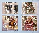 Yuson Girl 104 Stk Schneeflocken Fensterbild Abnehmbare Weihnachten Aufkleber Fenster Weihnachten Deko Wandtattoo Weihnachten Statisch Haftende PVC Aufkleber Test