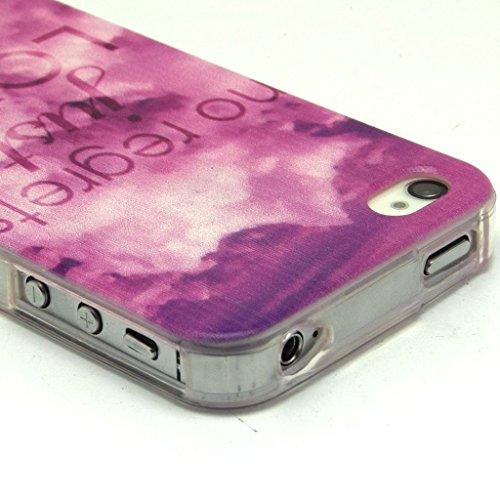 iPhone 4S Coque souple en TPU, yaobaistore Coque de protection en TPU pour Apple iPhone 4/4S Coque souple en silicone gel