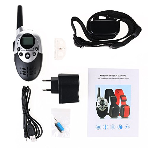 dog-dog-training-e-collar-lcd-shock-electrique-1000-metres-a-distance-blue-back-light-screen-remote-