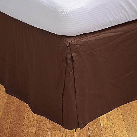 Living & Co 1lit Jupe Plissé Boîte (Longueur 32cm) 100% coton égyptien Haute Qualité 300fils véritable, chocolat, 180 x 200 cm
