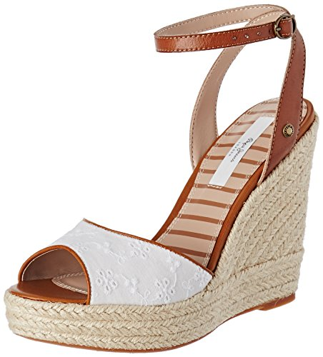 Pepe Jeans London Walker Anglaise 17, Sandali Donna Bianco (White)