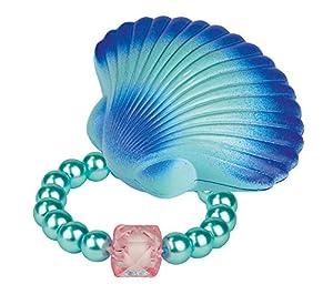 Moses 30592 Concha de Sirena con Pulsera de Perlas de Cristal para niños, Color Rosa