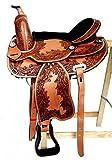 Baumloser Westernsattel INDIANA aus Büffelleder mit Klettkissen