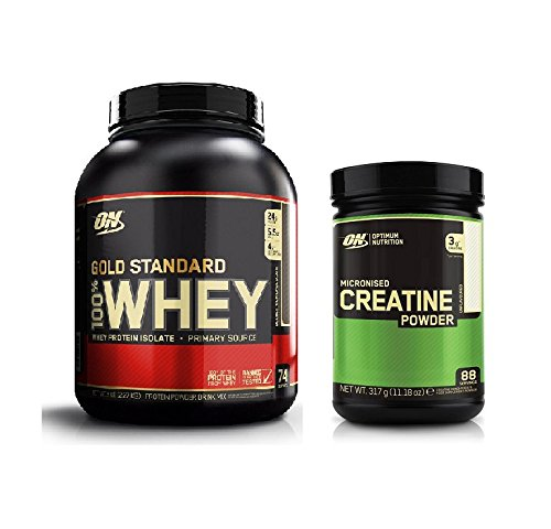 Optimum Nutrition Gold Standard Double Rich Chocolate 2.27kg and Creatine Powder 317g