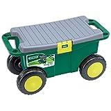 Draper Werkzeugwagen und Sitz für Gärtner, grün, 56x27.2x30.4 cm, 60852
