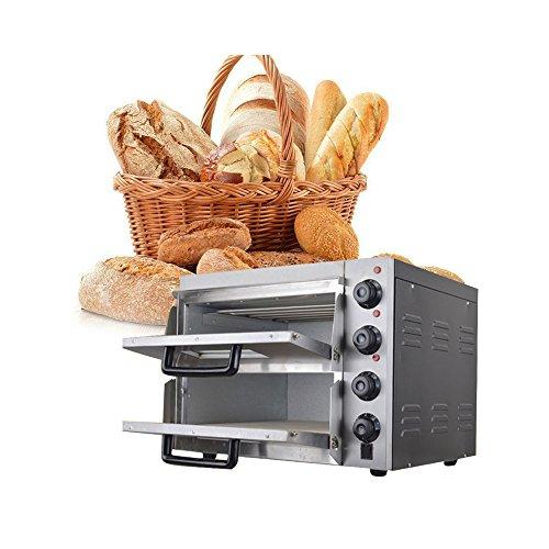 Enshey - Horno eléctrico doble para pizza o pan, para uso comercial,...
