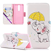 COTDINFOR Nokia 5.1 2018 3D Effect Painted PU Leather Case.