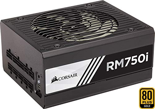 Corsair RM750i PC-Netzteil (Voll-Modulares Kabelmanagement, 80 Plus Gold, 750 Watt, EU) -