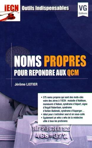 Noms propres pour répondre aux QCM / Jérôme Liotier.- Paris : Editions Vernazobres-Grego , 2016