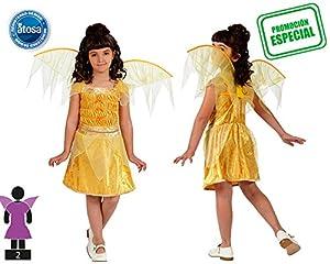 Atosa- Disfraz Hada, Color amarillo, 7 a 9 años (10738)