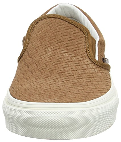 Vans U Classic Slip-on Sneaker, Unisex Adulto Marrone (braided Suede/dachshund)