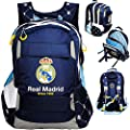 Rucksack / Laptoprucksack / Schulranzen - Fussball - Real Madrid - Club de Futbol / FCM - 15 - 17 Zoll - Brustgurt - SUPERLEICHT & ergonomisch + anatomisc..