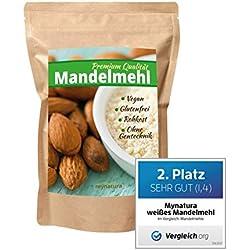 Mynatura 100% weißes Mandelmehl gemahlen(glutenfrei, Feines, Ballaststoffen,veganen und Shakes), 1000g