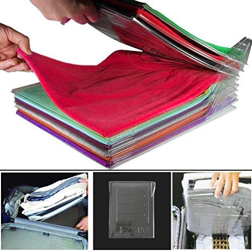 sparent Kleidung Folding Organizer, Lazy Klappbrett,Faltbrett für Erwachsene, Anti-Falten Stapelbrett,Layered Partition Kleiderschrank Falten by Manalada ()