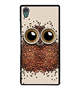 Coffee Owl 2D Hard Polycarbonate Designer Back Case Cover for Sony Xperia Z5 :: Sony Xperia Z5 Dual