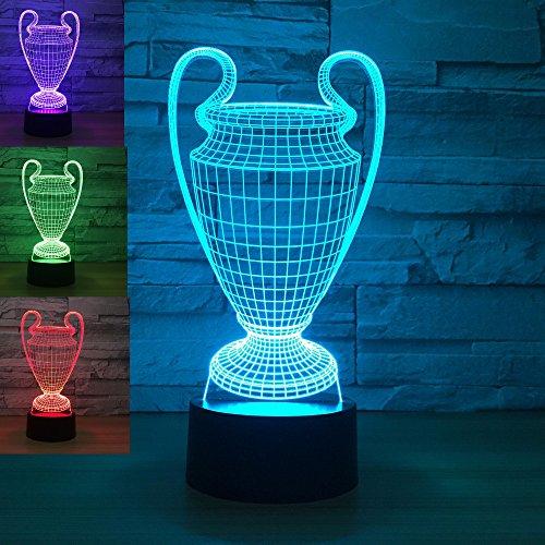 FISSEN 3D le trophée de la coupe de football LED Lampe...