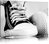Pixxprint Converse All Stars Schuhe auf Leinwand, XXL riesige Bilder fertig gerahmt mit Keilrahmen, Kunstdruck auf Wandbild mit Rahmen, günstiger als Gemälde oder Ölbild, kein Poster oder Plakat
