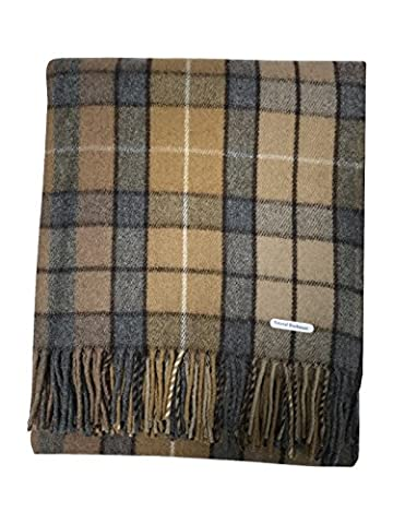 Scottish Highland Tartan Tweeds 100% Wolle Tartan Teppich Decke/11 Tartans erhältlich Buchanan Natural