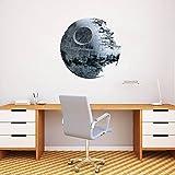Star Wars estrella de la muerte, adhesivo de pared, 50cm, Decoración del hogar, adhesivo extraíble