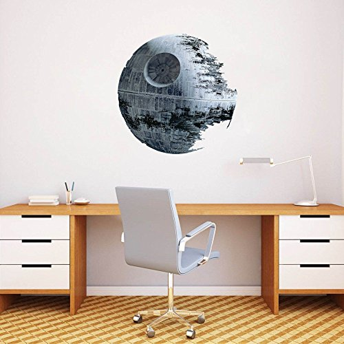 STAR WARS DEATH STAR Wall Art Decor 50 CM Star Wars Home Decor Sticker rimovibile Peel & Stick