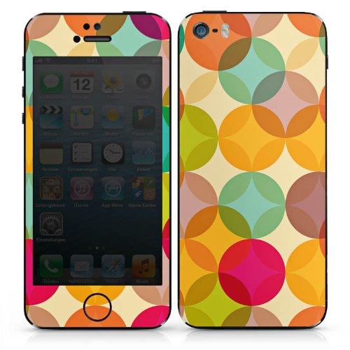 Apple iPhone 5s Case Skin Sticker aus Vinyl-Folie Aufkleber Kunst Abstrakt bunt DesignSkins® glänzend
