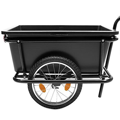 Fahrradanhänger mit 90 Liter Kunststoffwanne inkl. Kupplung - Lastenanhänger Transportanhänger Anhänger Handwagen -