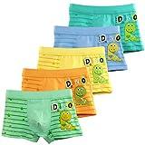 Espoy 5er Pack Kinder Jungen Boxershorts Junge Boxer Unterhose Unterwäsche Mikrofaser Slips Schlüpfer 3-10 Jahre 92-134