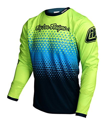 troy-lee-designs-sprint-long-sleeve-jersey-starburst-yellow-black-size-m-2017-long-sleeve-cycling-je