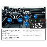 Prom-near Neue OBD HUD Head Up Display D2000 AUTO HUD Head Up Display Bildschirm 4 Zoll HD-Display frei zwischen Kilometer und Meilen wechseln